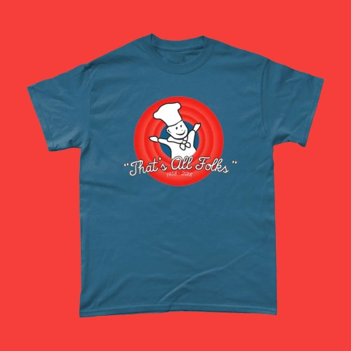 Little Chef That's All Folks T Shirt