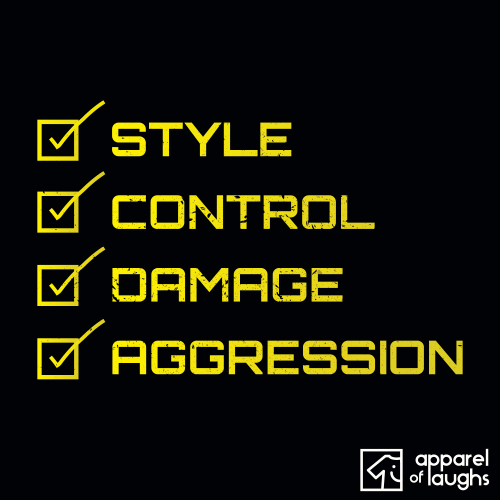 Robot Wars Judges Style Control Damage Aggression T Shirt Design Black