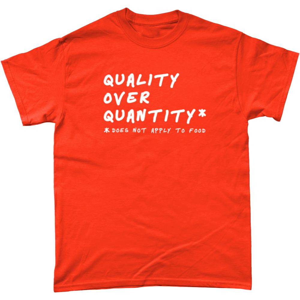 Quality Over Quantity Food T Shirt Orange
