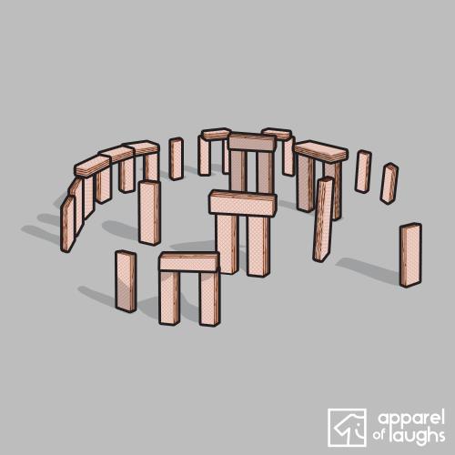 Wafer- Stonehenge Pink Wafer Stonehenge T Shirt Design Sports Grey
