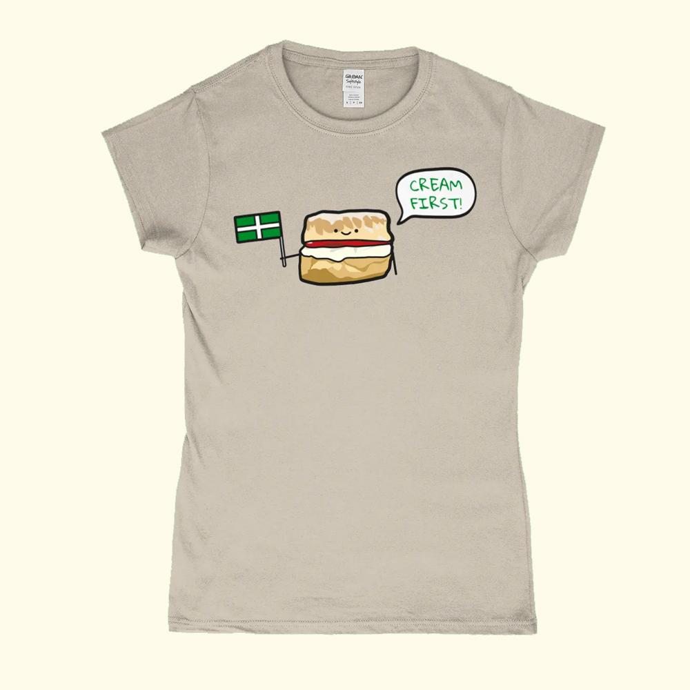 Cream First Devon Scone Womens T-Shirt