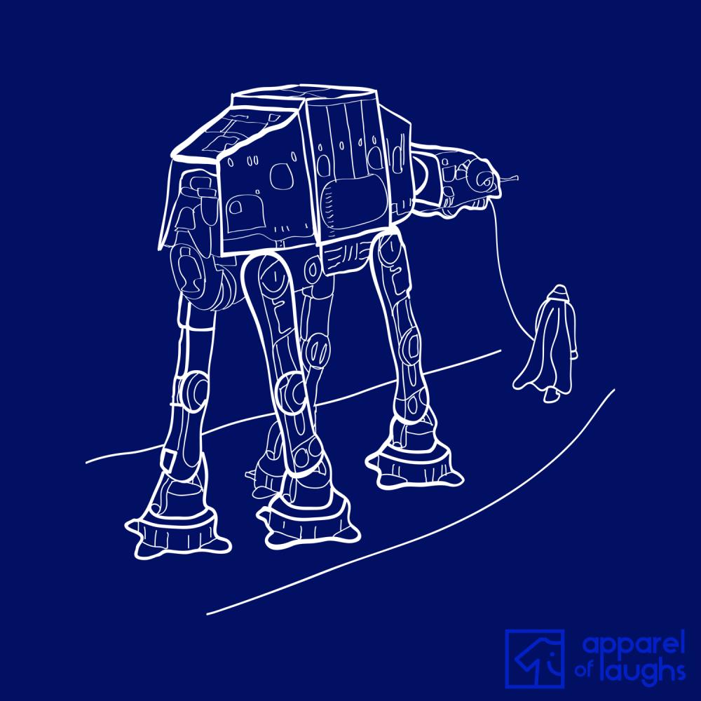 Walkies Star Wars AT-AT Darth Vader Hoodie Design Navy