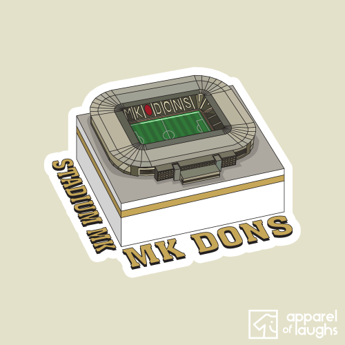 MK Dons Stadium MK Football Illustration Natural