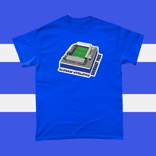 Oldham Athletic Boundary Park Football Stadium Illustration Men's T-Shirt