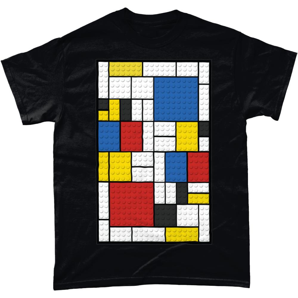 Lego Mondrian Art T-Shirt Design Black