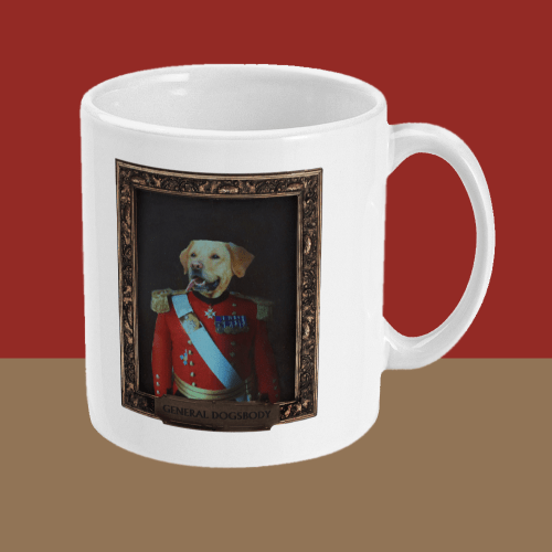 General Dogsbody Dog Comedy Mug Right