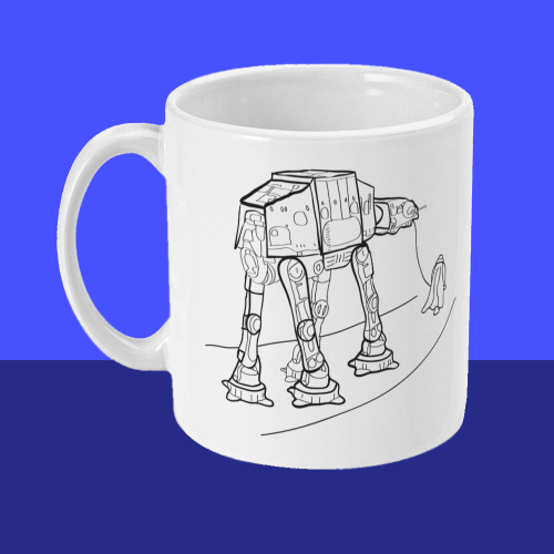 Star Wars Walkies AT-AT Darth Vader Mug Left
