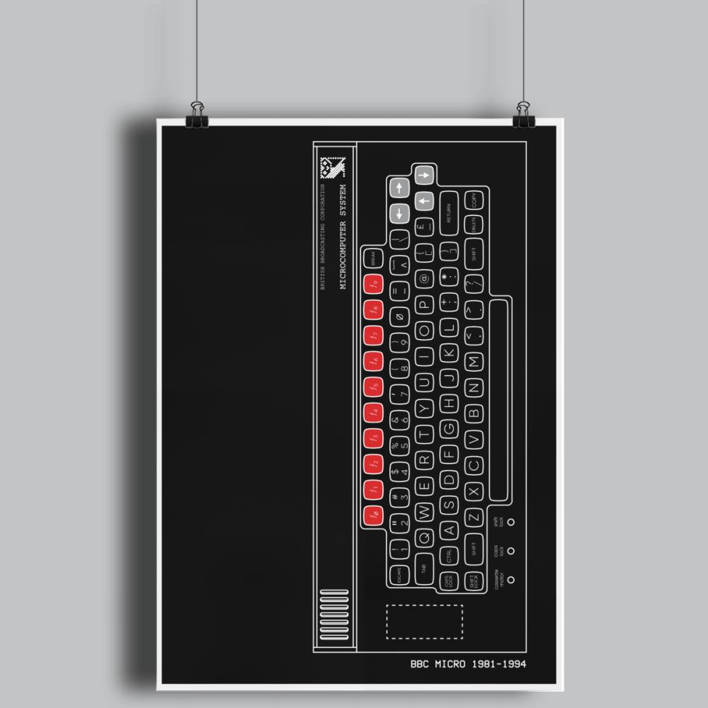BBC Micro Retro Computer Hardware Fine Art Print A3
