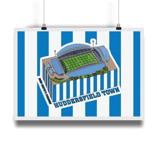 Huddersfield Town John Smith's Stadium Hallowed Turf Football Stadium Illustration Print