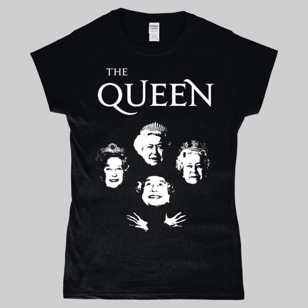 Bohemian Rhapsody Queen Elizabeth Royalty Women's T-Shirt Black