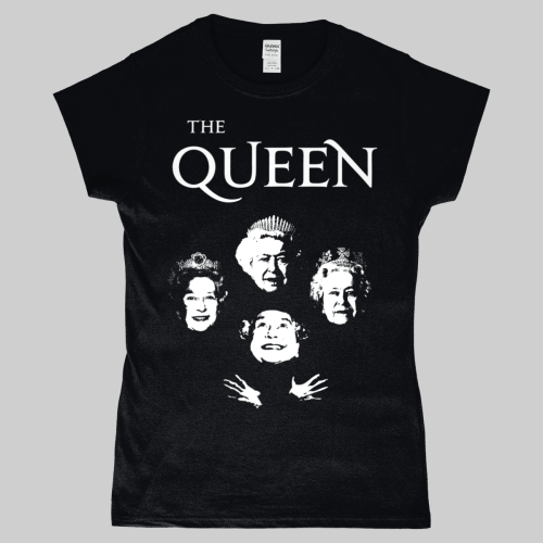 Bohemian Rhapsody Queen Elizabeth Royalty Women's T-Shirt Black