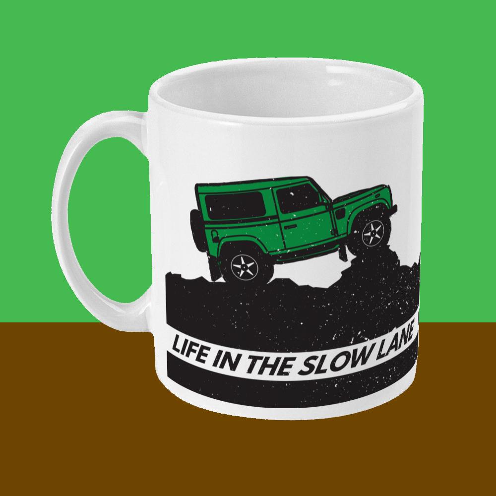 Life in the Slow Lane Land Rover 4x4 Mug Left