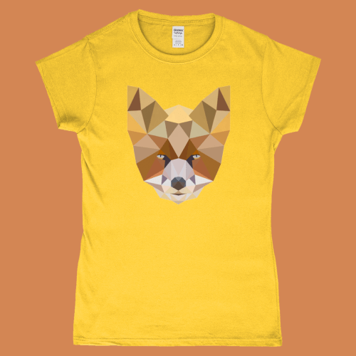 Low Poly Fox British Wildlife Women's T-Shirt Design Daisy