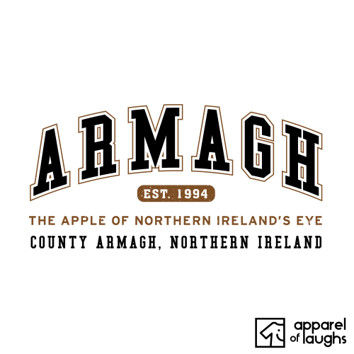 Armagh City Men's T-Shirt Women's Hoodie British Places White