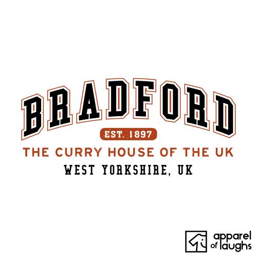 Bradford City Men's T-Shirt Women's Hoodie British Places White