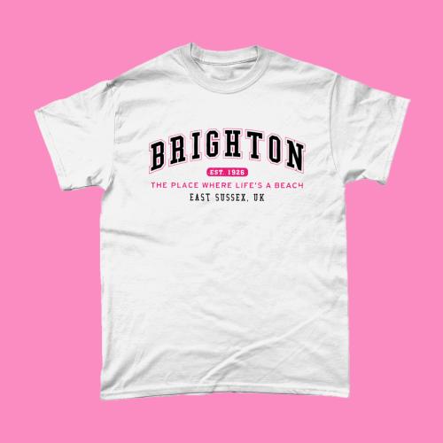 Brighton City Men's T-Shirt Women's Fashion British Places White copy