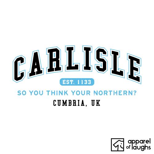Carlisle City Men's T-Shirt Women's Hoodie British Places White