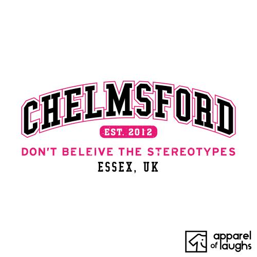 Chelmsford City Men's T-Shirt Women's Hoodie British Places White