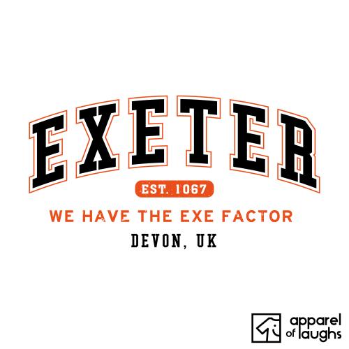 Exeter City Men's T-Shirt Women's Hoodie British Places White
