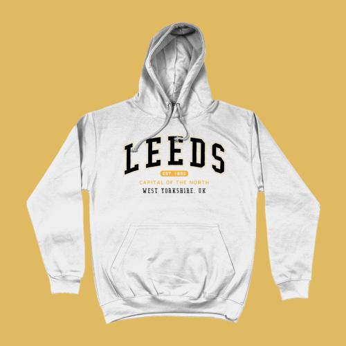 Leeds City Men's Apparel Women's Hoodie British Places White