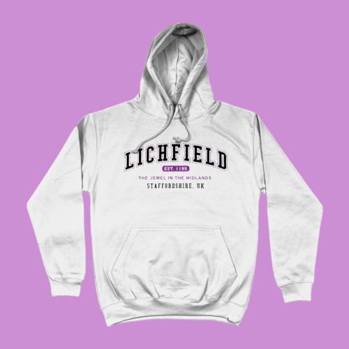 Lichfield City Men's Apparel Women's Hoodie British Places White