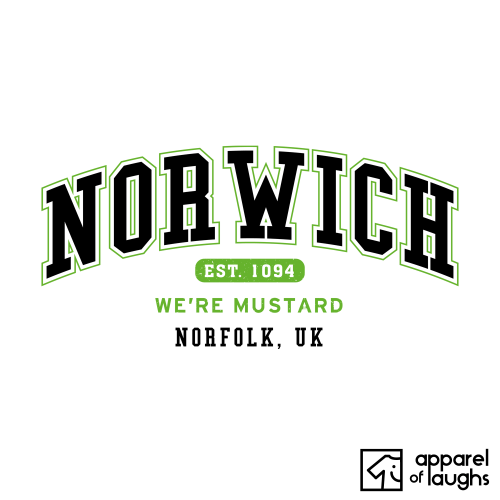 Norwich City Men's T-Shirt Women's Hoodie British Places White