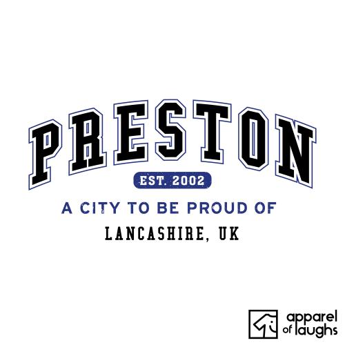 Preston City Men's T-Shirt Women's Hoodie British Places White
