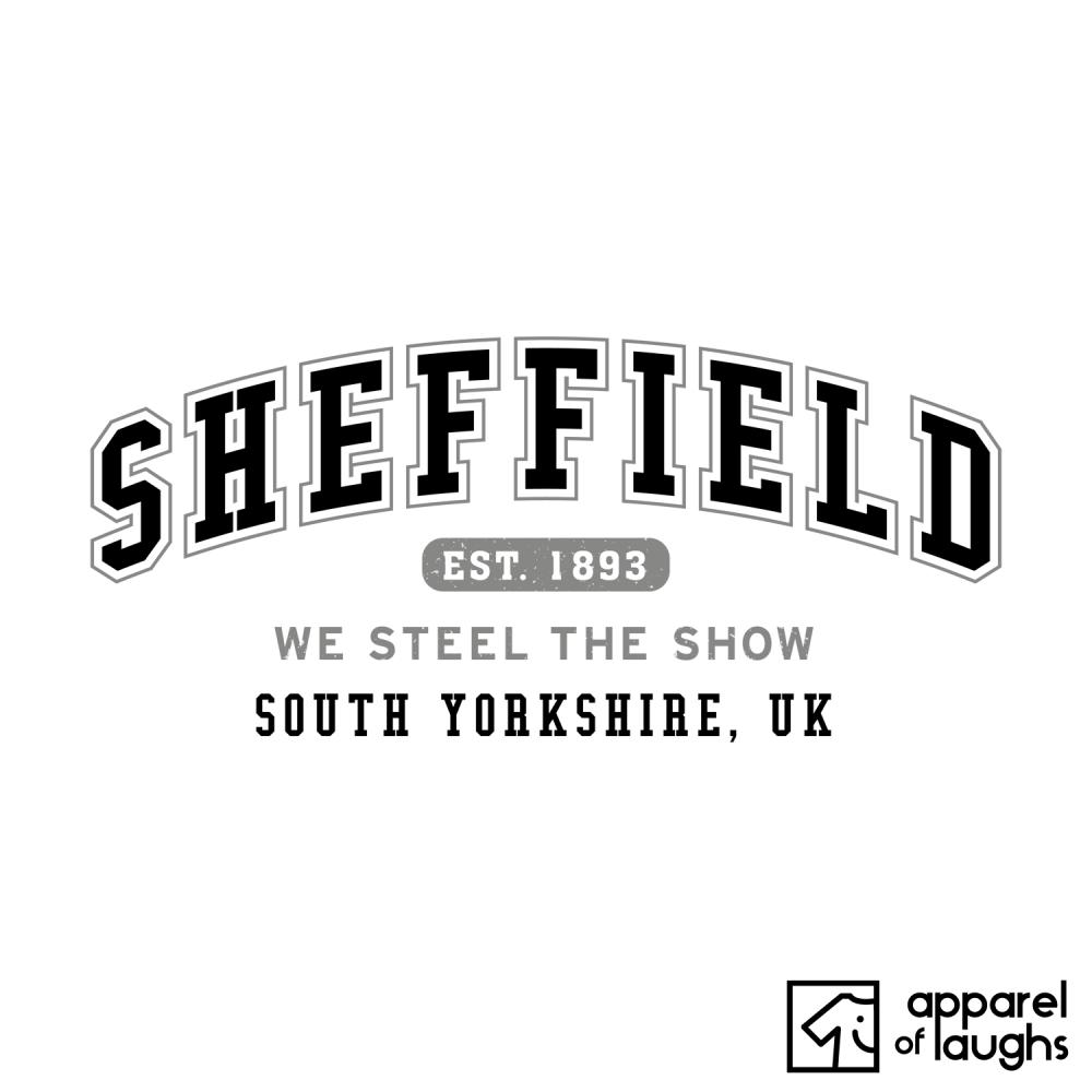 Sheffield City Men's T-Shirt Women's Hoodie British Places White