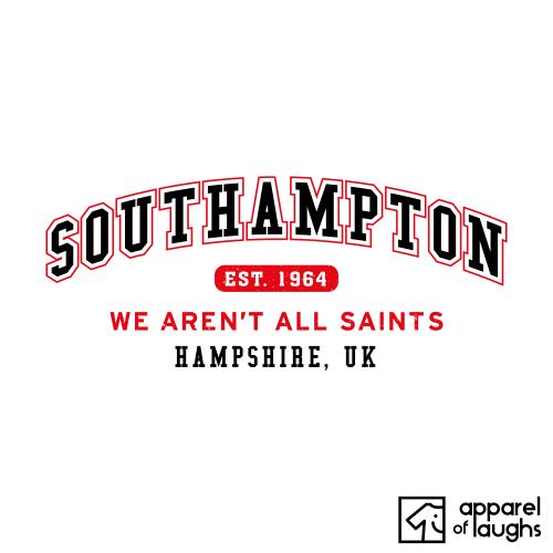 Southampton City Men's T-Shirt Women's Hoodie British Places White