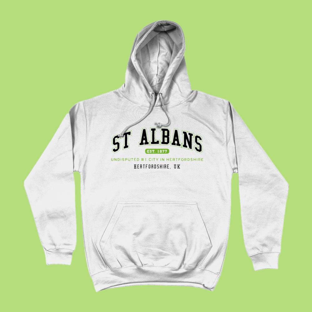 St Albans City Men's Apparel Women's Hoodie British Places White