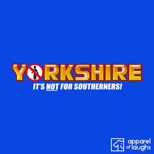 Yorkie Chocolate Yorkshire T-Shirt British Apparel of Laughs Design Royal Blue
