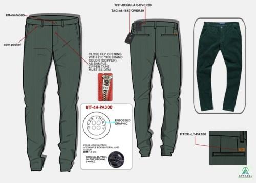 Mens Wear - Fall Winter 2016 or 17, ART PA300VELTAMU