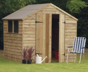 Garden Shed Increases the Glamour Quotient of the Garden