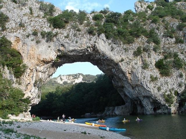 Pont naturel en Ardéche