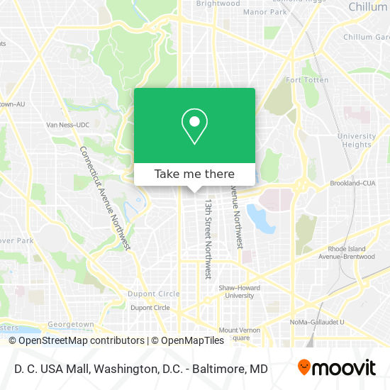 See a ne washington dc map and learn about the northeast neighborhoods of dc including information about the top attractions and points of interest. How To Get To D C Usa Mall In Washington By Bus Or Metro