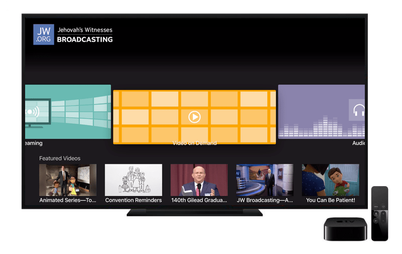 Video: How to use the JW Broadcasting app for Apple TV 4