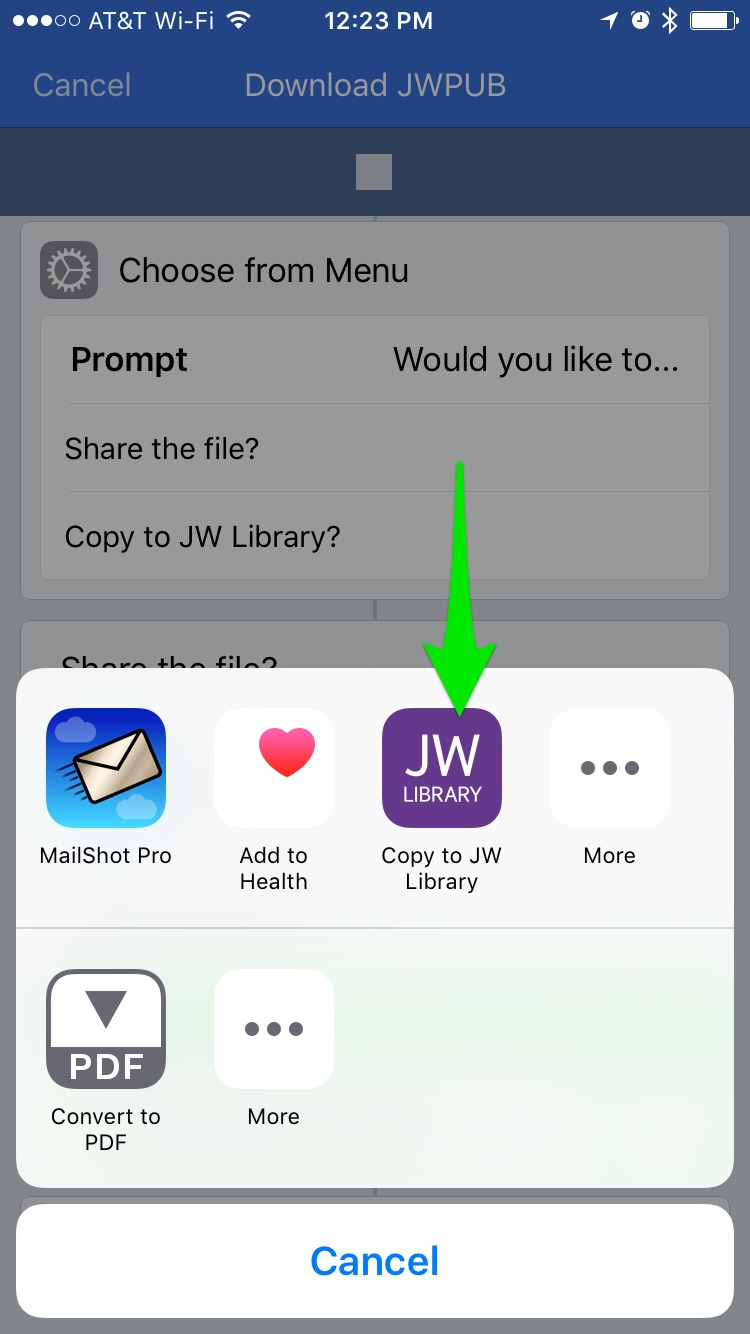 How to Import JWPUB files from JW org into JW Library using Workflow