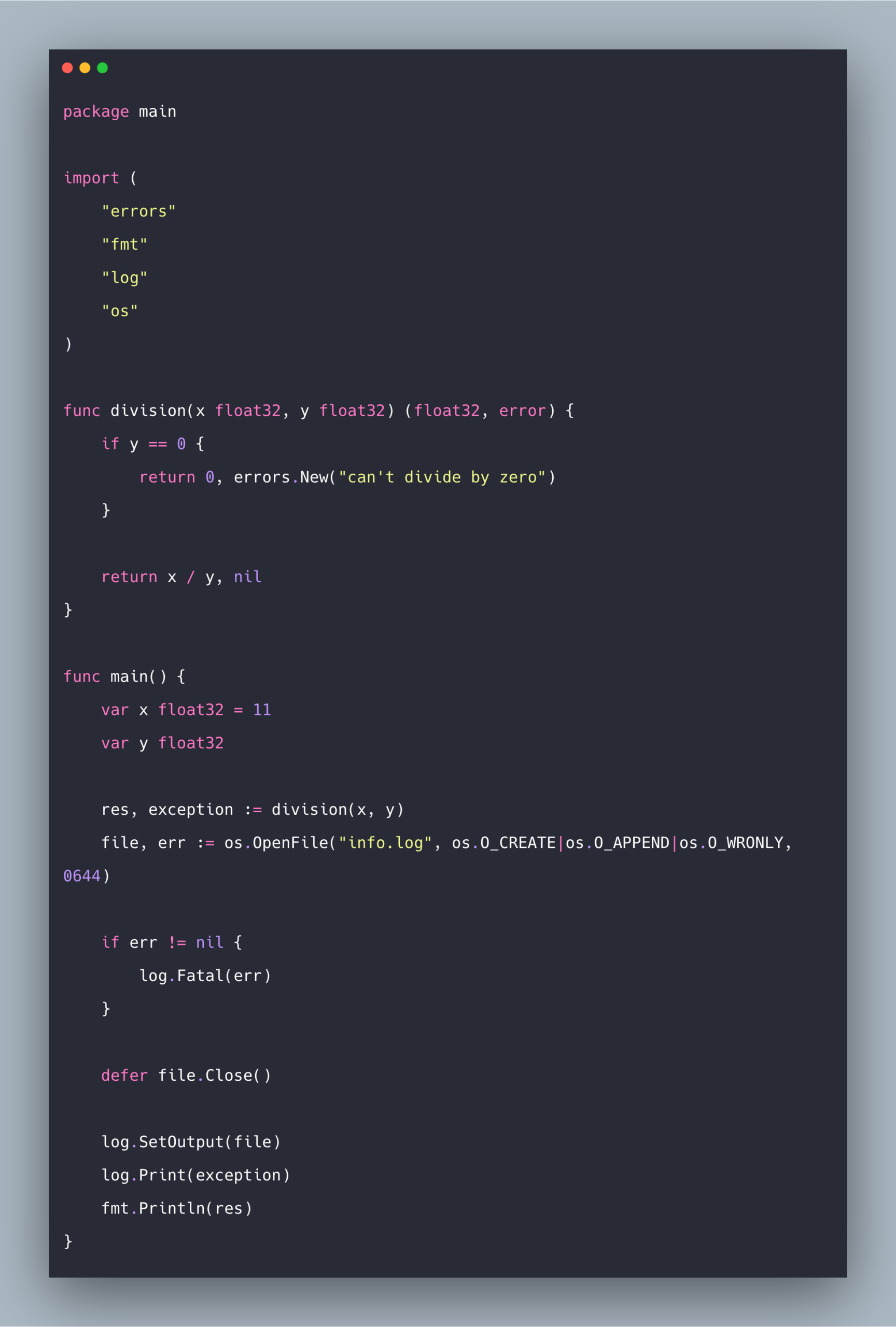 Golang Log: How to Use Log Package In Go
