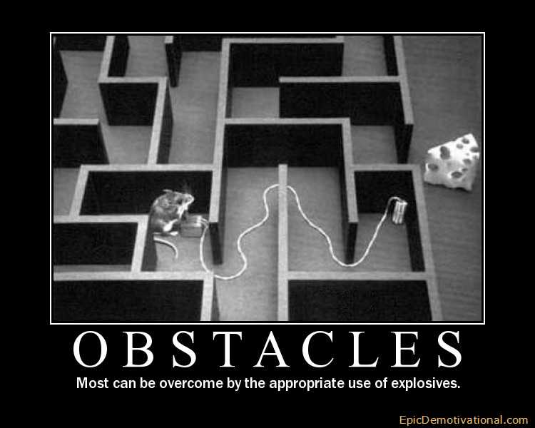 demotivational posters obstacles appeal