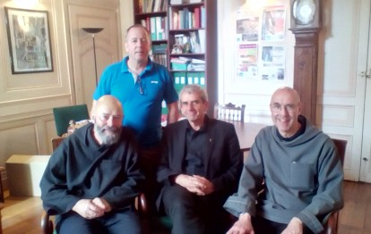 Father Giles and Brother Michael with Mr Millot, Vicar General of Burgundy