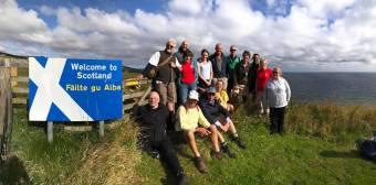 Pilgrimage arrives at the Scottish border
