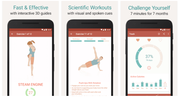 Seven - 7 Minute Workout Training Challenge : App Review ...