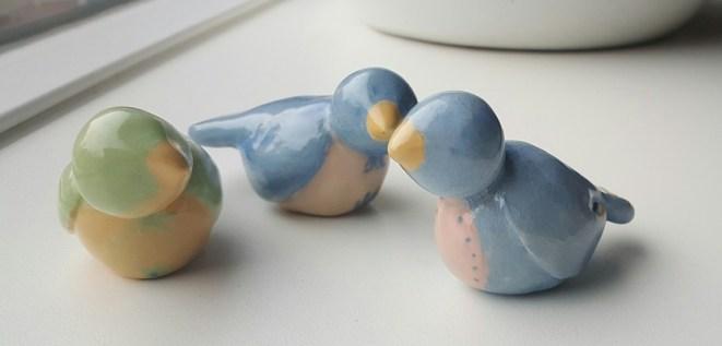 geglazuurde vogeltjes