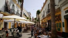 Gezellig straatje in Cadiz.