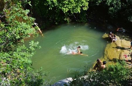 bagnanti la cisterna fiume orta