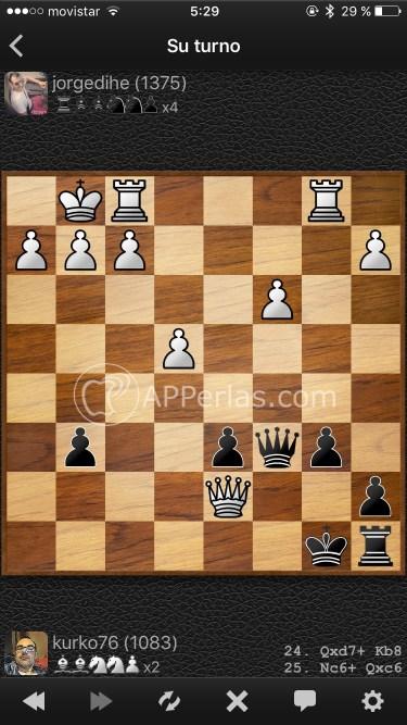 Partidas de ajedrez online