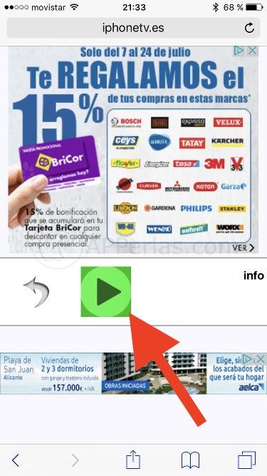 Reproducir canal en iPhone TV
