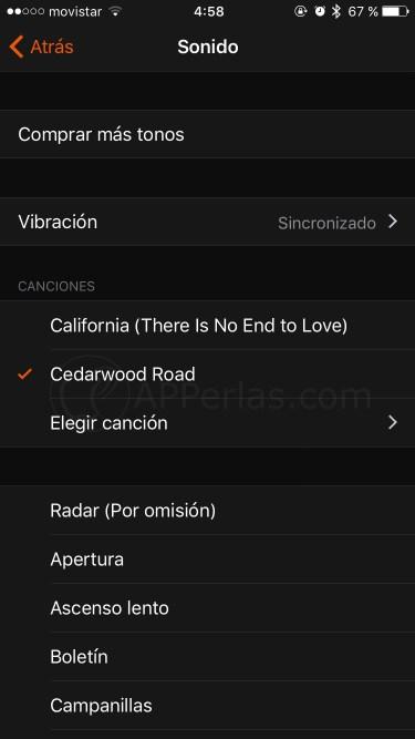 Elige la canción en la alarma del iPhone