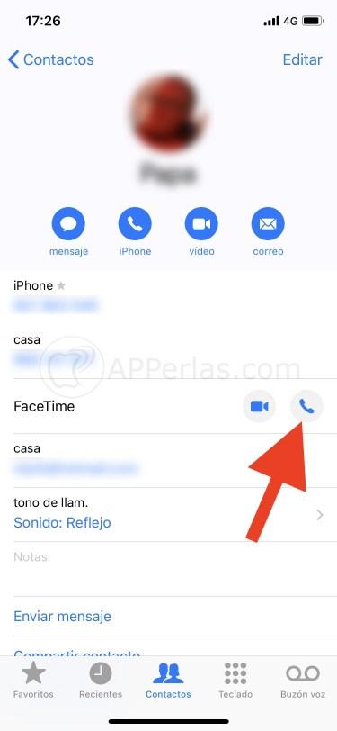 Llamada gratis entre iPhone