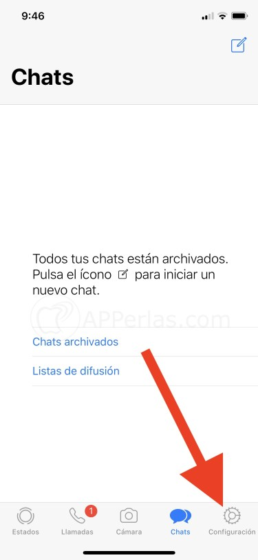 Botón configuración de Whatsapp